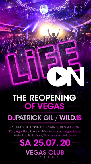 Flyer LIFE ON! - The Reopening