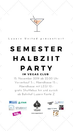 Flyer Halbziit Party by HSLU