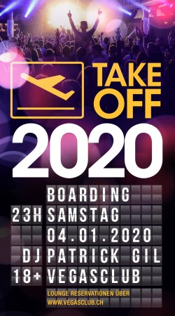 Flyer TAKE OFF - 2020 Party