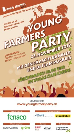Flyer Young Farmers Party - Messe Afterparty